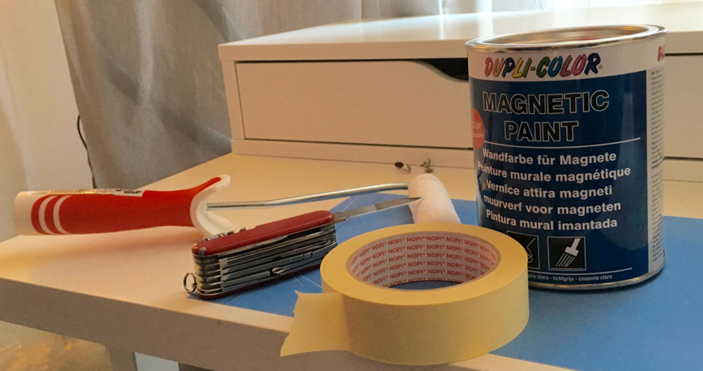 anziehende farbe so entsteht eine magnetwand mit magnetmalfarbe. Black Bedroom Furniture Sets. Home Design Ideas