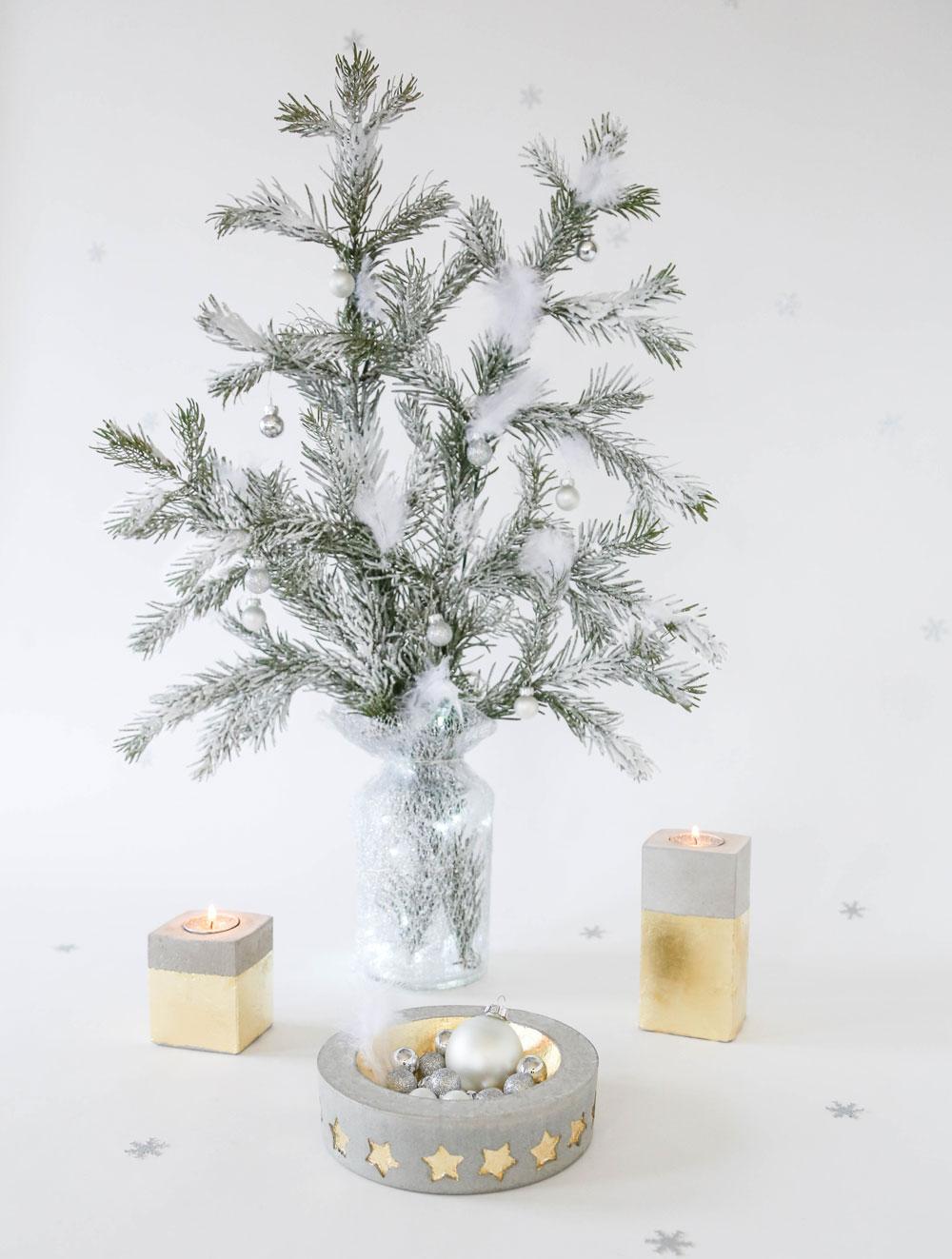 sch nes aus beton f r den weihnachtstisch do it garden blog. Black Bedroom Furniture Sets. Home Design Ideas