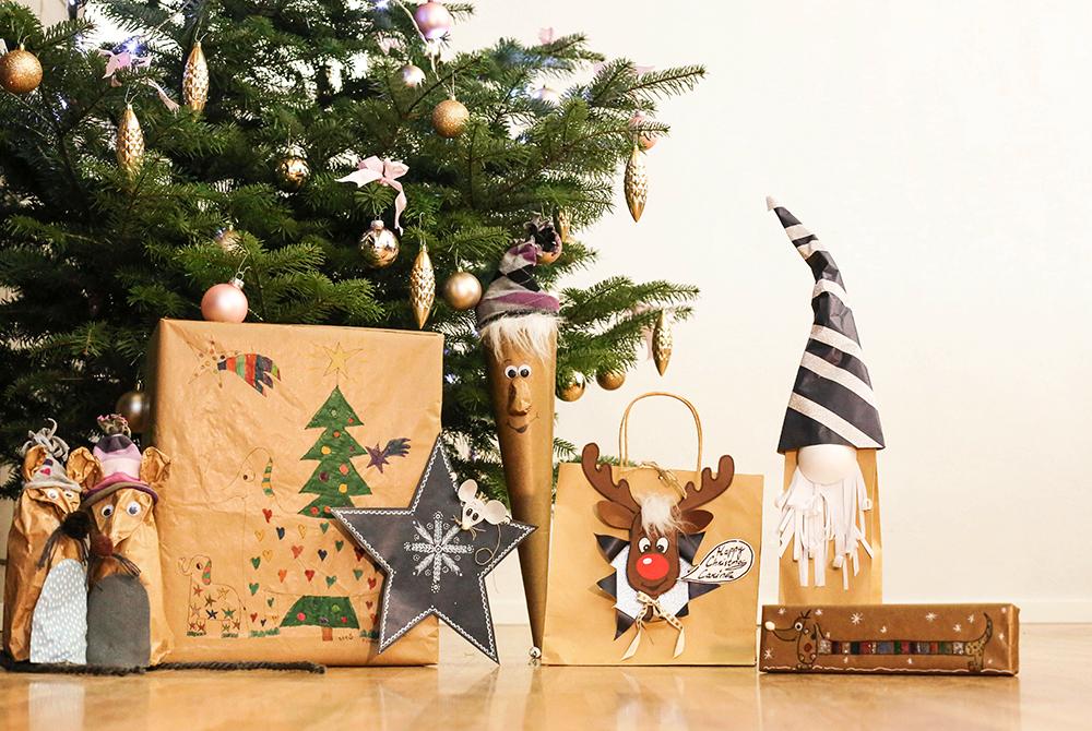 Lustige Geschenkverpackungen aus Packpapier - Do it + Garden Blog