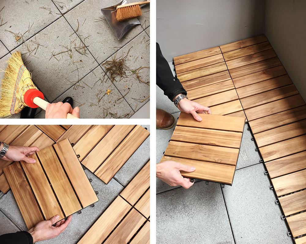 mach deinen balkonboden fit und sch n. Black Bedroom Furniture Sets. Home Design Ideas