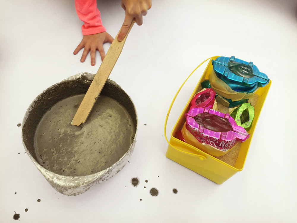 Betonhasen und osternester sch ne bastelideen f r ostern - Bastelideen mit sand ...