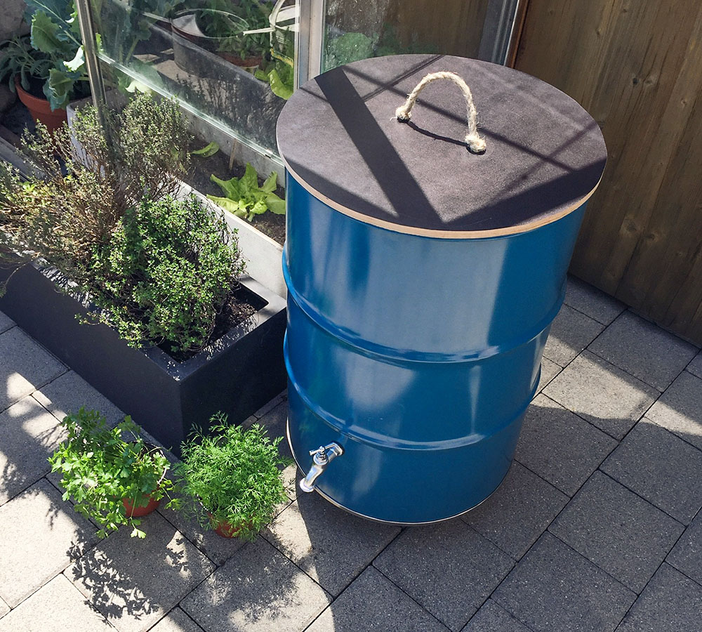diy-regentonne: nie mehr wasser schleppen. - do it + garden blog