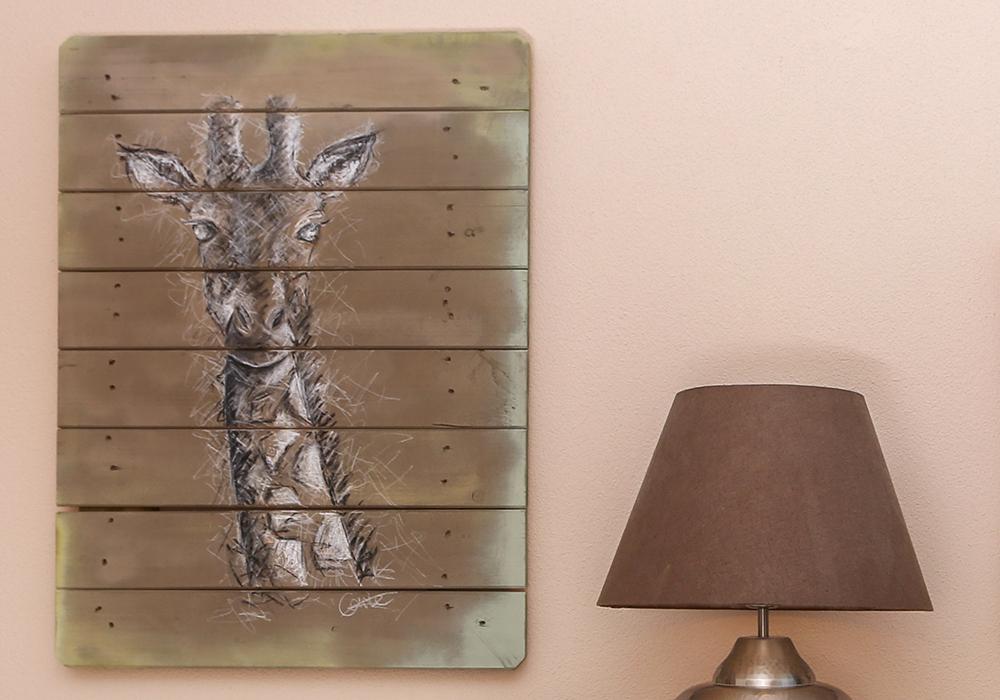 Kinderzimmer. Damit Wir Das Bild Auch Gut Aufhängen Können, Haben Wir Auf  Der Rückseite Eine Zusätzliche Holzlatte In Querrichtung Angebracht.