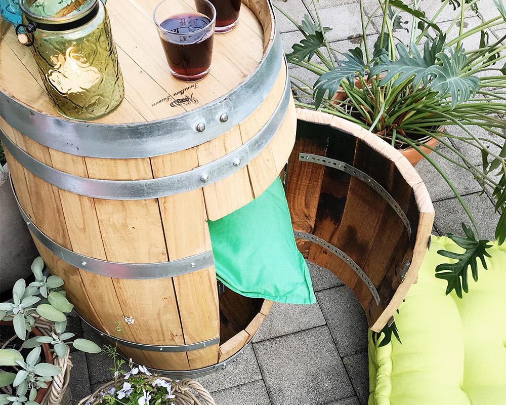 Upcycling: Die Holzfass-Regal-Bar - Do it + Garden Blog