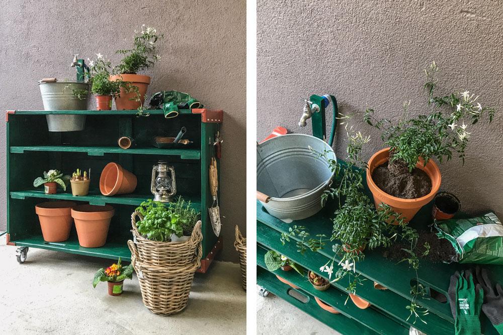 diy pflanztisch aus aufsatzrahmen und 2 paletten deckeln. Black Bedroom Furniture Sets. Home Design Ideas