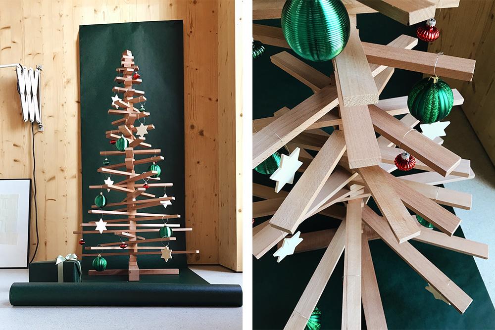 Der Diy Weihnachtsbaum Lässt Weihnachtsstimmung Aufkommen