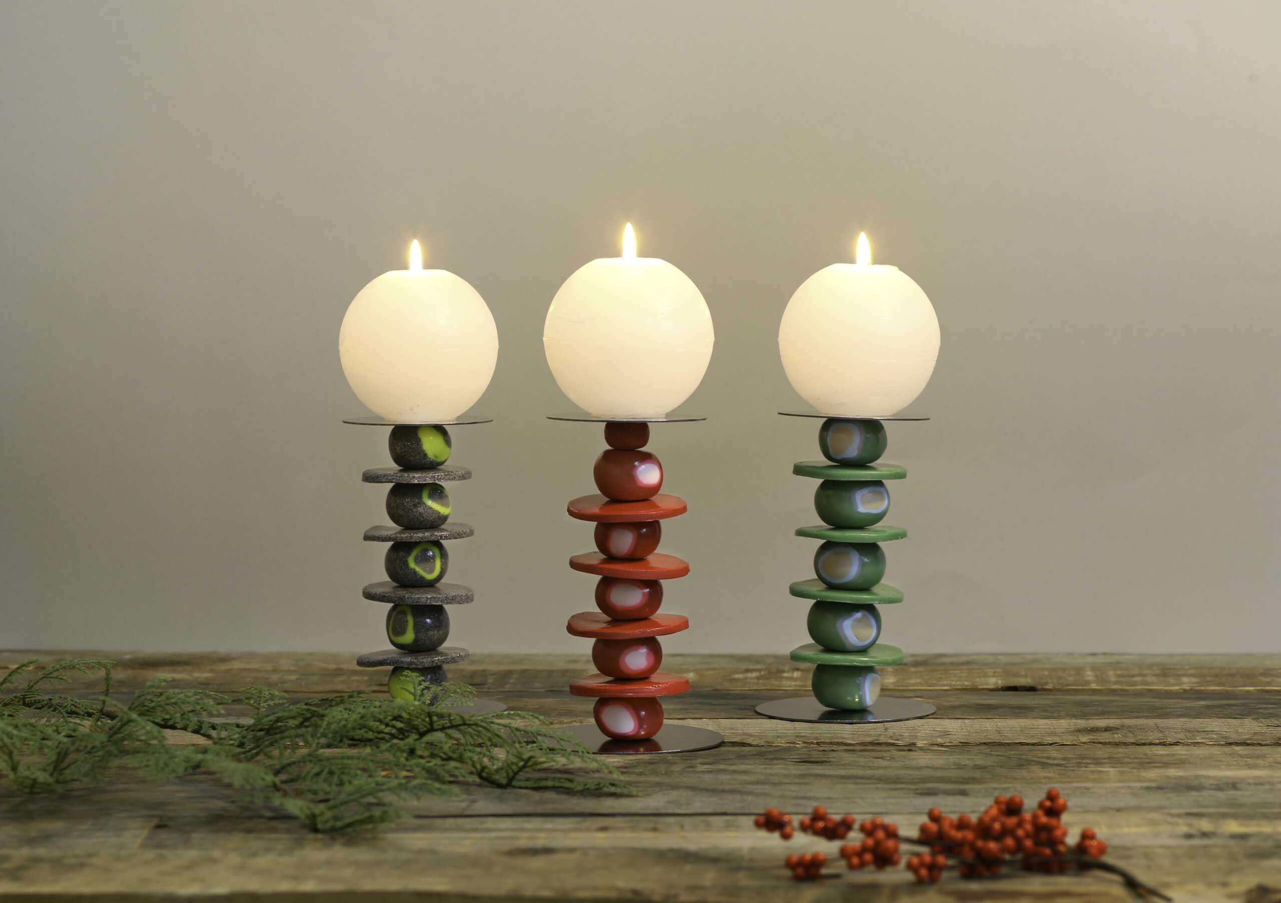 Der Fimo Kerzenstander Setzt Jede Kerze In Ein Gutes Licht